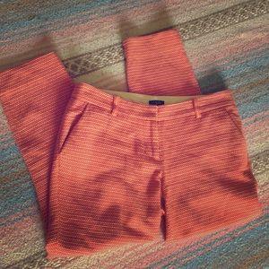 J.Crew City Fit ankle pants in rusty orange
